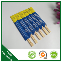 custom wooden disposable chopsticks with custom chopstick sleeves