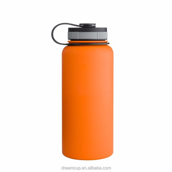 Wholesale custom logo 32oz double wall water flasks insulated stainless steel water bottle