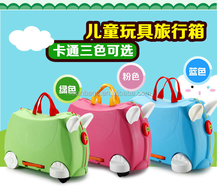 3 Color Option Multifunction Suitcase Boy and Girl Trolley Case Kids Plastic Luggage Bag Kids Suitcase