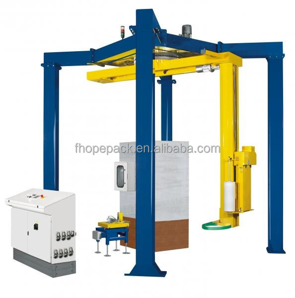 Rotary arm pallet stretch wrapper pallet wrapping machine