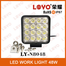 "12V 24V 4.5"" 48W Square LED Work Lamp High Quality 48 Watt Working LED Lights LED Driving Light"
