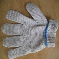 poly cotton string knit safety glove