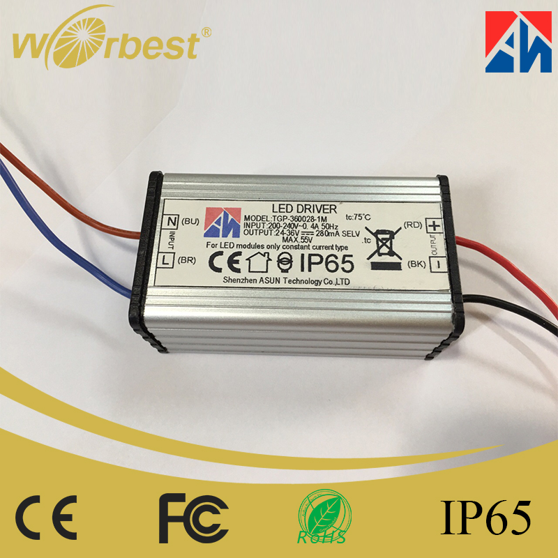 Made in China Small Size IP65 LED Driver AC to DC Waterproof LED Power supply 12W 24-36V