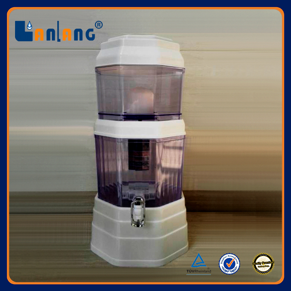 28L square Ceramic filter 8 grade cartridge Mineral water pot