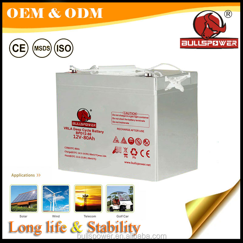 24v sealed lead acid battery 12V80AH