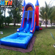 Kids commercial inflatable bouncy castle water slides