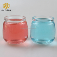 Innovative new design 180ml glass pudding bottle/jars , small glass canning jars with plastic lids