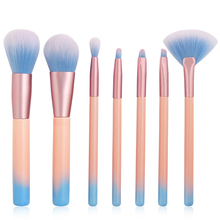 7pcs Cosmetic Makeup Brushes Set Beauty Tool Eye Shadow Power Blush Brow Liner Concealer Lip Face Fan Make Up Brush Kit