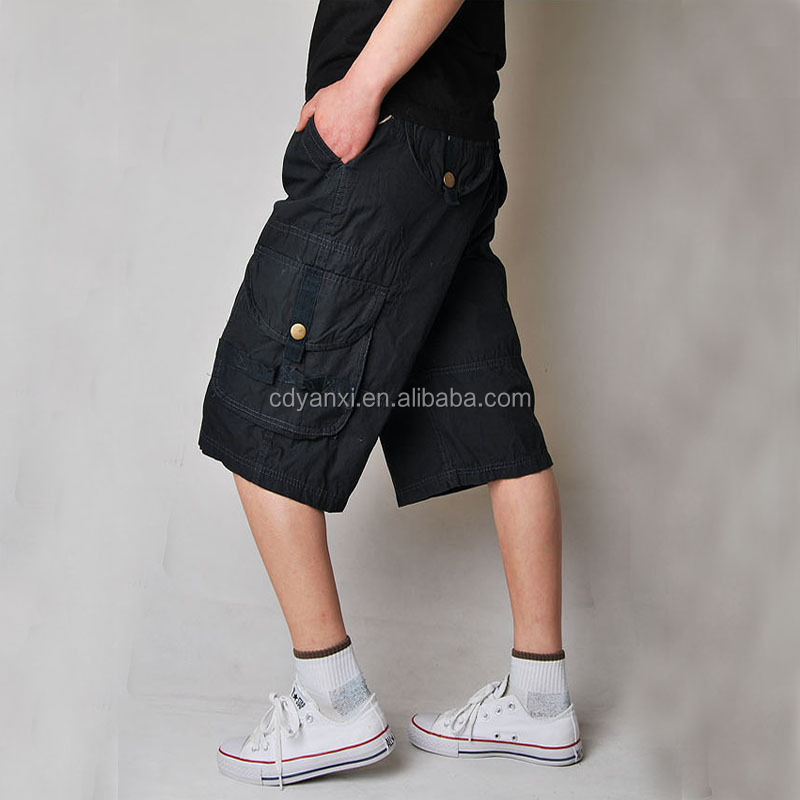 Wholesale Mens Summer Cool Half Short Pants Outdoor Sports Jogging Cotton Pants Trousers