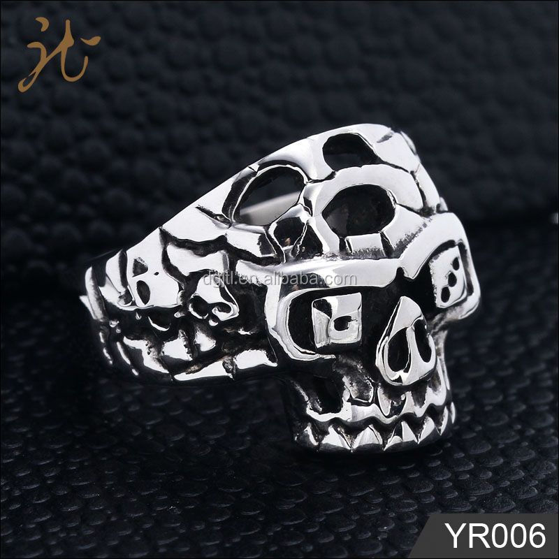 Fashion metal women's cz rings jewelry in stainless steel