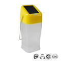 Solar powered green energy saving lamp with 2 brightness stable body