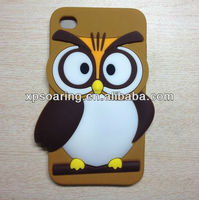 for ipod touch 4 3D animal owl silicon case cover