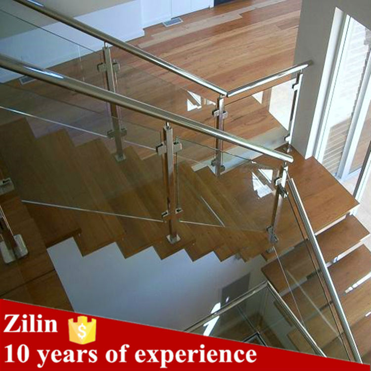 Factory prices modern design decorative indoor stainless steel staircase railing model interior for Stainless steel railings interior