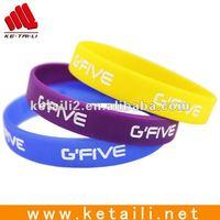 Silicone Rubber Sport Wristband Cuff Bracelet Wrist Band