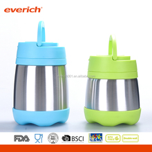 Everich 500ml Insulated Vacuum Stainless Steel Food Container With Handle and Spoon