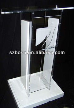 Clear and White Acrylic Lectern