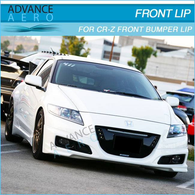 FOR 11 12 13 14 HONDA CRZ 2DR BODYKIT MUGEN STYLE PU FRONT BODY KIT BLACK POLY URETHANE BODYKITS