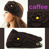 Brown Rhinestone Wool Knitted Women Fashion Headband
