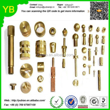 OEM brass material precision hardware products;brass cnc lathe parts ; export metal cnc lathe maching parts