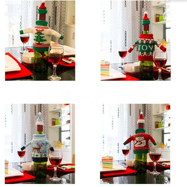 Christmas novelty high quality Knit Sweater Wine Bottle Cover