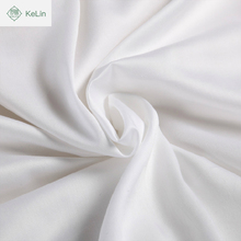 hotel use bedding set 100% cotton white satin plain fabric