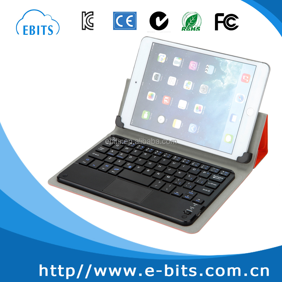 8 inch Tablet PC Leather bluetooth Keyboard Case Micro USB, 8 inch Tablet PC Case with Keyboard with touchpad