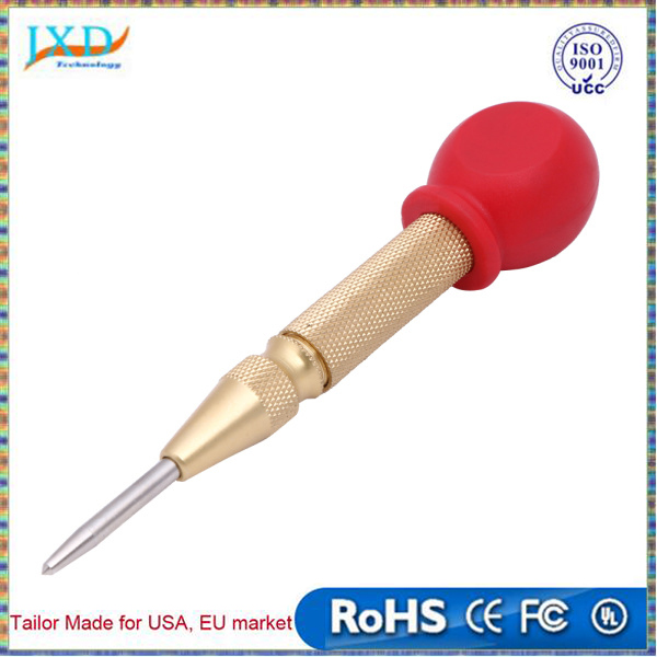 5 Inch Automatic Center Pin Punch Spring Loaded Marking Starting 130MM Center Drill High Speed Steel Handle for Metal Drilling