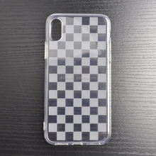 DFIFAN Latest Fashion chessboard Design Phone Case for iphone X ,Cross Grid Column Clear TPU Case for apple iphone X
