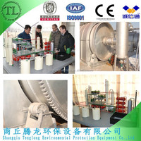 Waste oil refinery plant, atmospheric and vacuum distillation unit