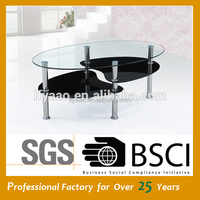 Popular cheap Stainless steel Glass top Coffee Table JY-48