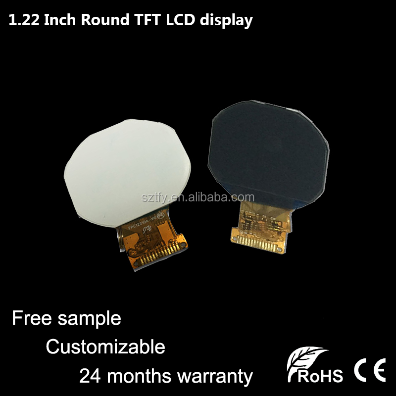 Topfoison most popular 1.22 inch tft round 240*204 ips lcd display for smart watch