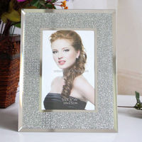 customized glitter sexy girls glass picture photo frame
