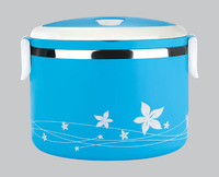 BEST SALES STAINLESS STEEL WHOLESALE TIN LUNCH BOX WITH LOCK,1/2/3 TIERS,GREEN MADE IN CHINA
