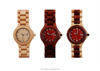 Top quality best sell new design maple/redsandal/ maple with redsandal wooden wrist wood watch