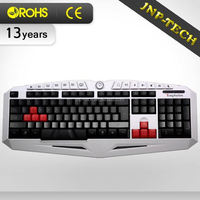 Software Marco function computer Gaming keyboard with colorful LED light