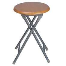Simple Metal frame wooden Folding Stool