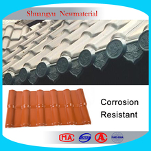 Corrosion resistant plastic resin tile roof, Corrosion resistance asa synthetic roof tiles