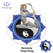 yingyang customized round eco friendly natural rubber yoga mats