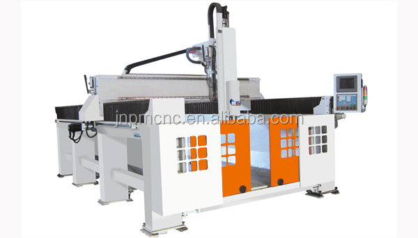 Factory manufacture OSAI controller Italy HSD air cooling spindle cnc knife cutting machine with good price PM 1224 5axis