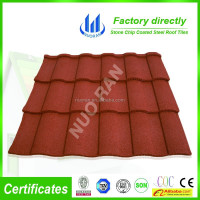 Happiness Eco-friendly Fire-Resistant stone coated roofing tile hot sale in Africa China factory