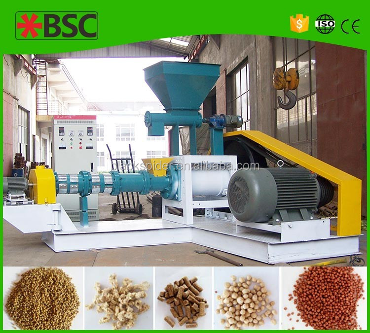 business manufacturing tilapia feed food extruder wet way floating fish/cat/dog feed extruder plan