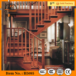 MT-TM322 Carved Wood Staircase,modern wood stairway,timber wood staircase