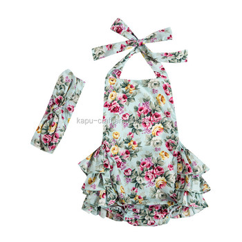 Hot Selling Summer Baby Clothes Bubble Baby Girl Rompers