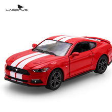 High Simulation 1:36 Ford Mustang GT alloy pull back model cars Two door sports car Model Toy Collection Gift For Kids New