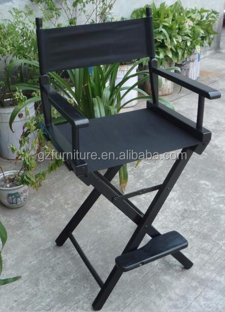 World Famous Counter Height Director Chair By Telescope Casual black