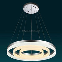 Suspended Round circle light LED Ring Lamp Color change pendant light modern