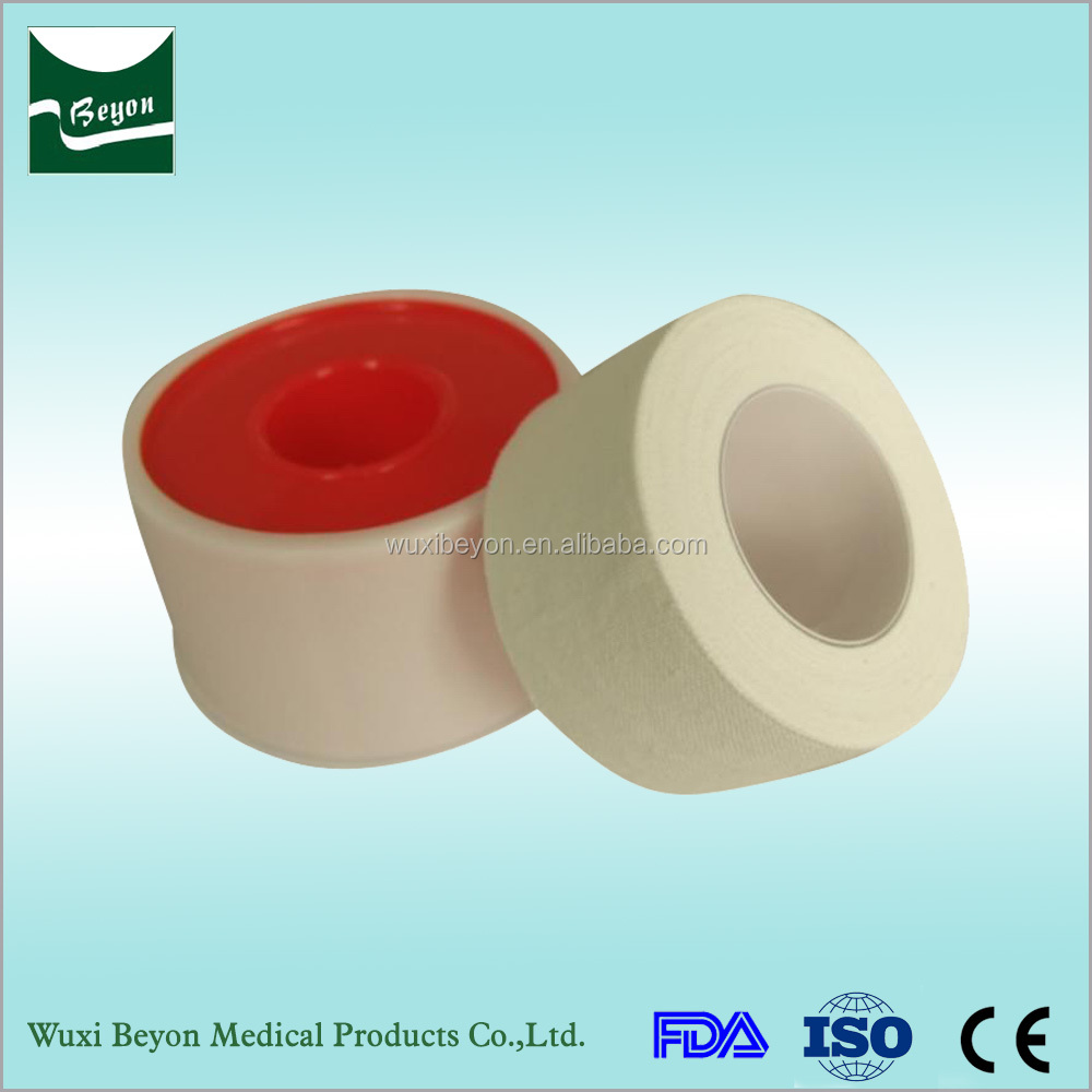 Wholesalers china zinc oxide cotton medical tape with plastic core