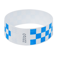 Customized tear resistant disposable tyvek paper wristband roll for event