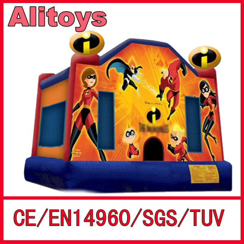 2013 inflatable bounce house super heros