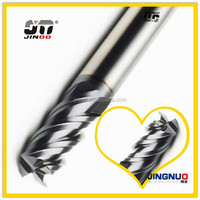 JINOO High Performance cnc quality end mills tungsten solid carbide face and side milling cutter